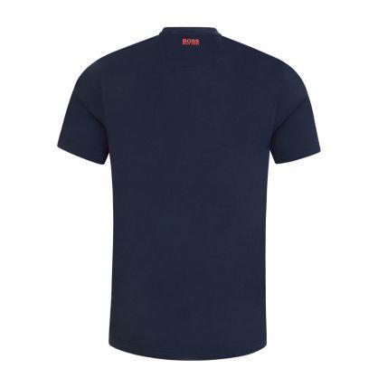Navy Athleisure Layered Logo Artwork T-Shirt