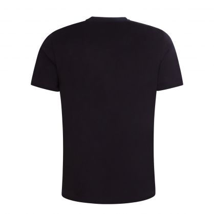 Black Athleisure Pixel-Print Logo T-Shirt