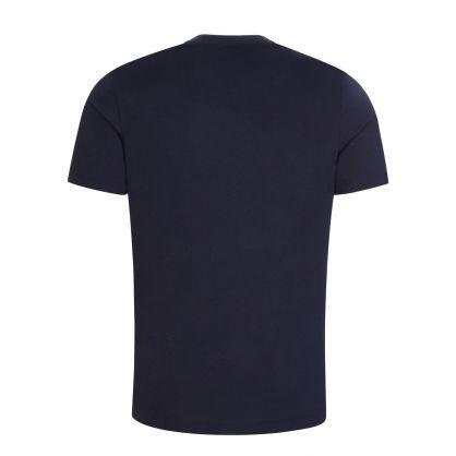 Navy Pixel Logo T-Shirt