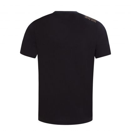 Black Athleisure Contrast Logo Detail T-Shirt