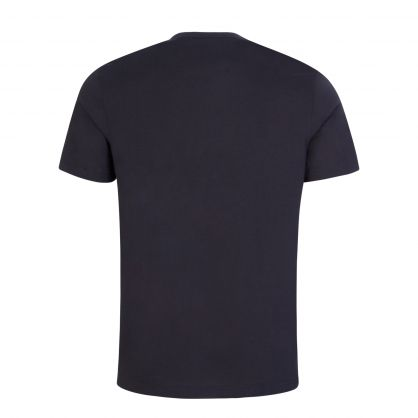 Navy Blue Curved Logo T-Shirt