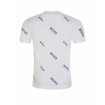 Menswear White All-over Logo Tiburt T-Shirt