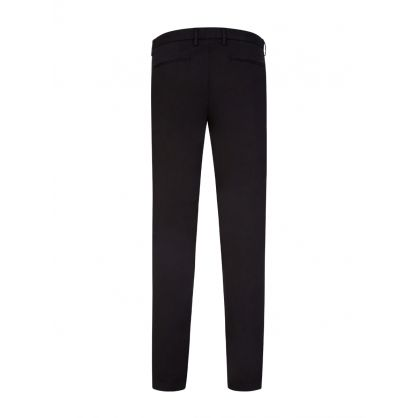 Black Kaito Tapered Slim-Fit Chino Trousers
