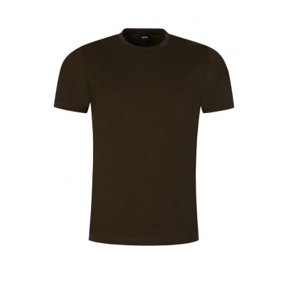 Green Cotton Logo T-Shirt