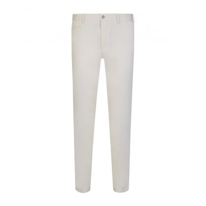 White Broad1-W Slim Fit Trousers