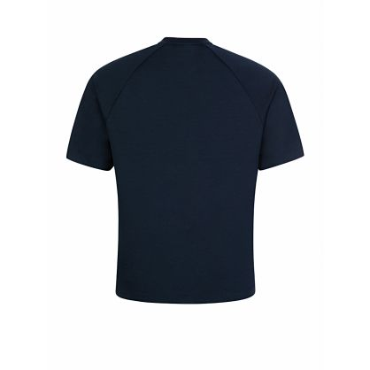 Menswear Navy Chest Zip Dalzo T-Shirt
