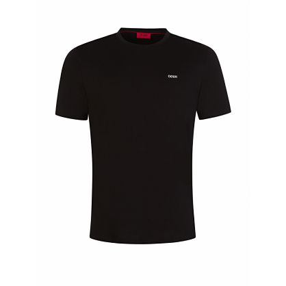 Menswear Black Reverse Logo Dero203 T-Shirt