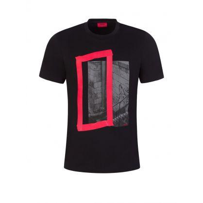 Black Datam Graphic-Print T-Shirt