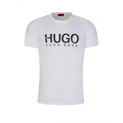 White Logo-Print Dolive T-Shirt
