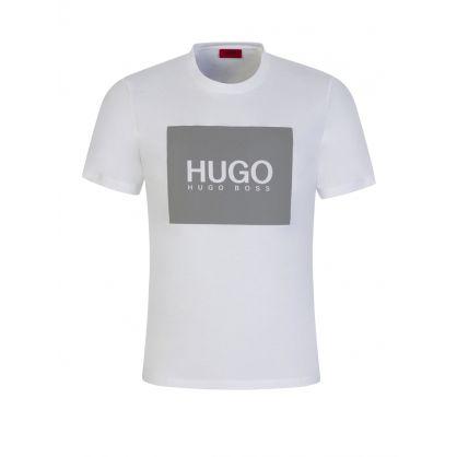 White Dolive 211 Reflective Logo T-Shirt