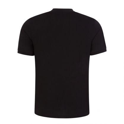 Black Diragolino212 Red Logo Label T-Shirt