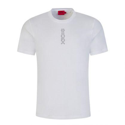 White Durned213 Cropped-Logo T-Shirt