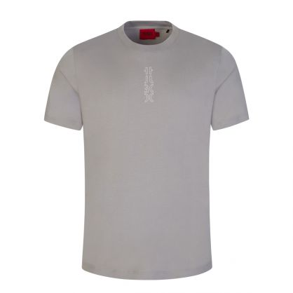 Silver Durned213 Cropped-Logo T-Shirt
