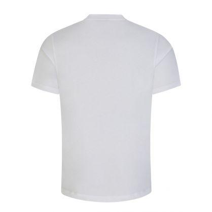 White Darlon213 Cotton Cropped-Logo T-Shirt