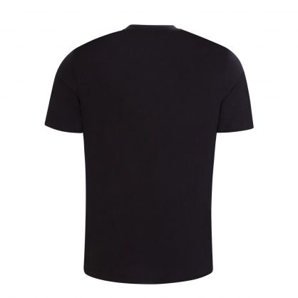 Black Embroidered Handwritten Logo T-Shirt