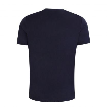 Dark Blue Dolive-U3 Logo-Print T-Shirt
