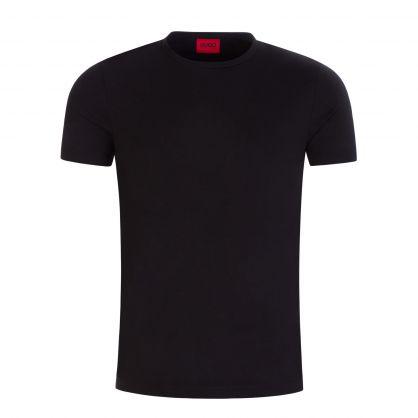 White/Black Slim-Fit Stretch-Cotton T-Shirts 2-Pack
