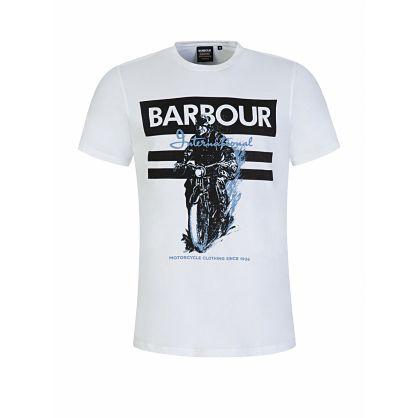 White Heritage Print T-Shirt