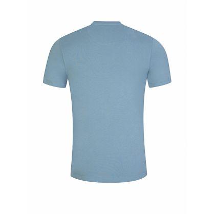 Blue Slim-Fit Chest Logo T-Shirt