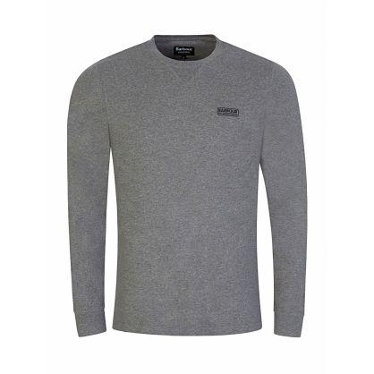 Barbour Grey Long-Sleeve Logo T-Shirt
