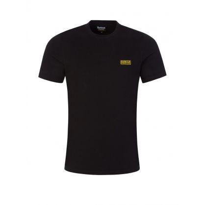 Black Slim-Fit Small Logo Print T-Shirt