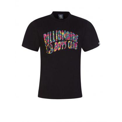 Black Confetti Arch Logo T-Shirt