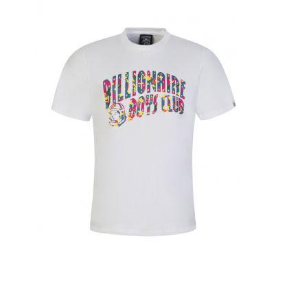 White Confetti Arch Logo T-Shirt