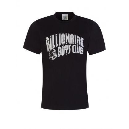 Black/Silver Glitter Arch Logo T-Shirt