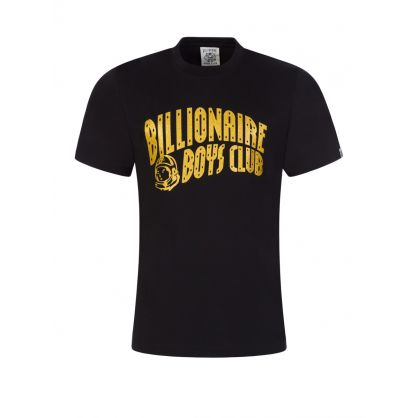 Black/Gold Glitter Arch Logo T-Shirt