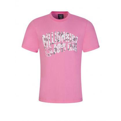 Pink Camo Arch Logo T-Shirt