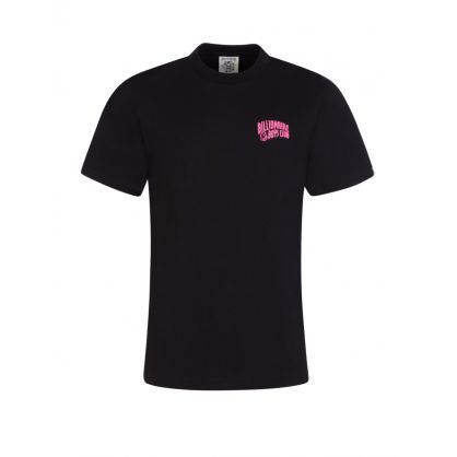Black Neon Pink Logo T-Shirt