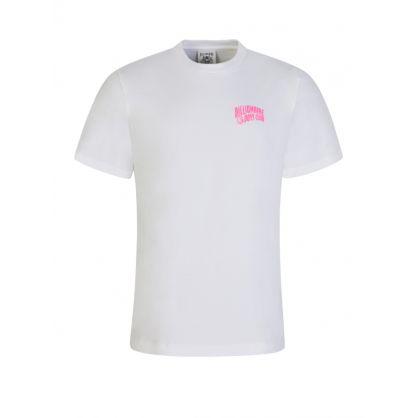 White Neon Pink Logo T-Shirt