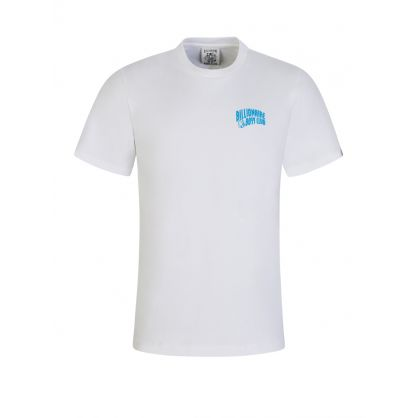 White/Blue Arch Logo T-Shirt