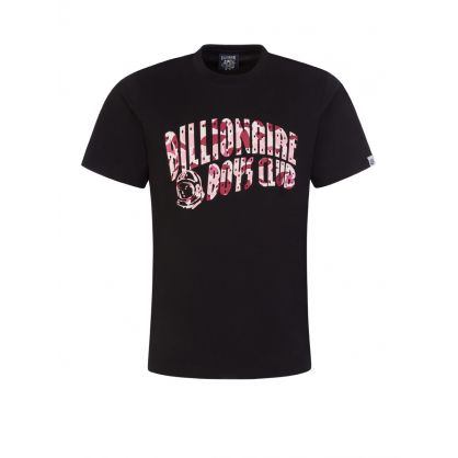 Black/Pink Camo Arch Logo T-Shirt