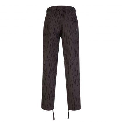 Grey Printed Ripstop Beach Pants