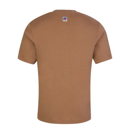 Beige Relaxed-Fit Exclusive Logo T-Shirt