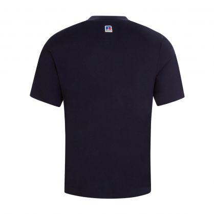 Navy Italic Logo T-Shirt