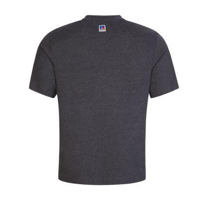 Dark Grey Italic Logo T-Shirt
