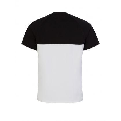 Black/White Jacquard T-Shirt