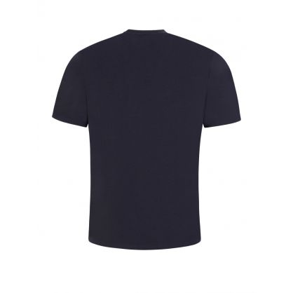 Navy Vertical Logo Pyjama Identity T-Shirt