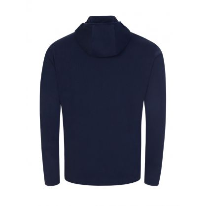 Navy Beachwear Hooded Pocket T-Shirt