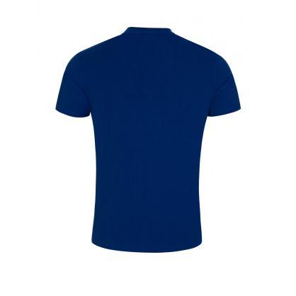 Blue Slim-Fit Beachwear Logo T-Shirt