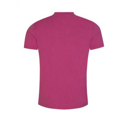 Pink Slim-Fit Beachwear Logo T-Shirt