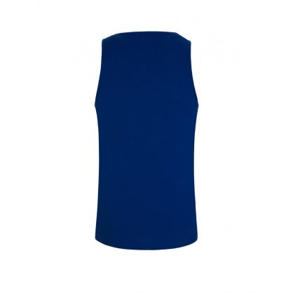 Blue Beachwear Vertical Logo Tank Top