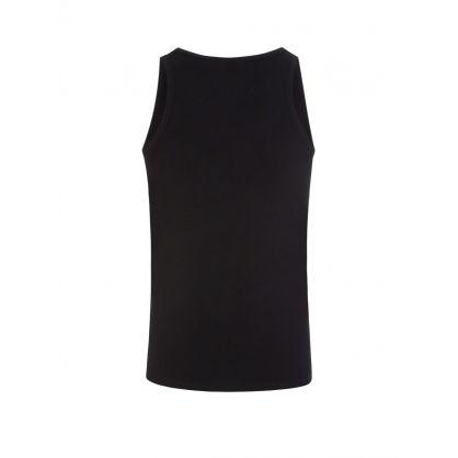 Black Slim-Fit Cotton Stretch Tank Tops 2-Pack