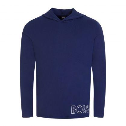 Navy Bodywear Stretch-Cotton Outline Logo Pyjama T-shirt