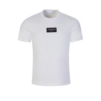 White Chest Box Logo T-Shirt