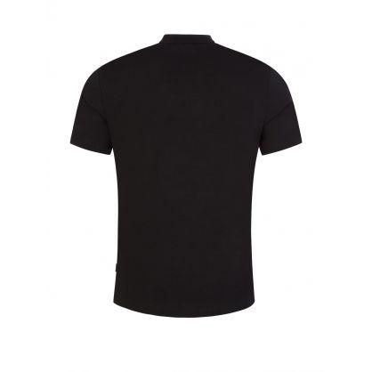 Black Flocked Box Logo T-Shirt