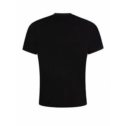 Black Chest Logo Print T-Shirt