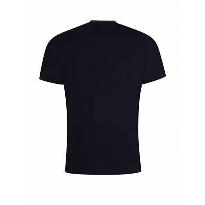 Navy Chest Logo Print T-Shirt